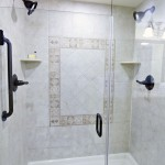 luxurious hotel shower