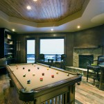 Stunning billiards room with Western decor.